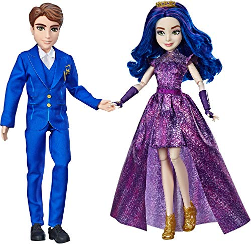 Disney Descendants 3 Royal Couple Engagement, 2-Doll Pack with Fashions and Accessories