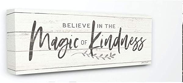 Stupell Industries Kindness Family Home Inspirational Word Textured Wood Design Stretched Canvas Wall Art By Stephanie Workman Marrott 10 X 1 5 X 24 Multi Color