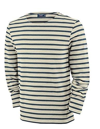 Saint James Meridien - Streifenshirt - Bretagne-Shirts Ecru/Marine (L)