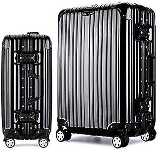 Langxj hj スーツケース キャリーバッグ100%PCポリカーボネート ダブルキャスター 二年安心保証 機内持込 アルミフレーム人気色 超軽量 TSAローク1520