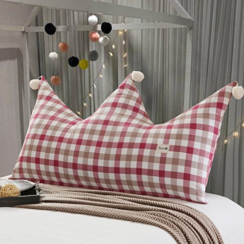 DNSJB Cojín de respaldo para la cama Cojín para la cama infantil Respaldo de la corona Cama doble individual Almohadillas de la cintura Bolsa para la cabecera de la princesa, lavable extraíble