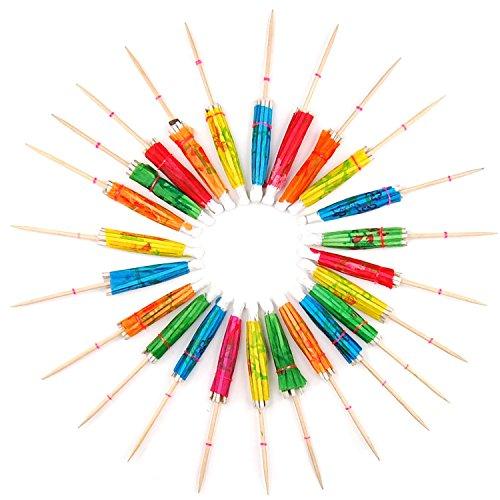 NEYOANN Sombrillas Paraguas de Coctel de Papel 24 Multicolor Accesorios de Bebida de Fiesta