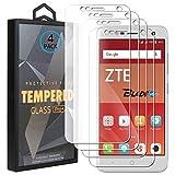 Ycloud 4 Pack Vidrio Templado Protector para ZTE Blade V8 Mini, [9H Dureza, Anti-Scratch] Transparente Screen Protector Cristal Templado para ZTE Blade V8 Mini