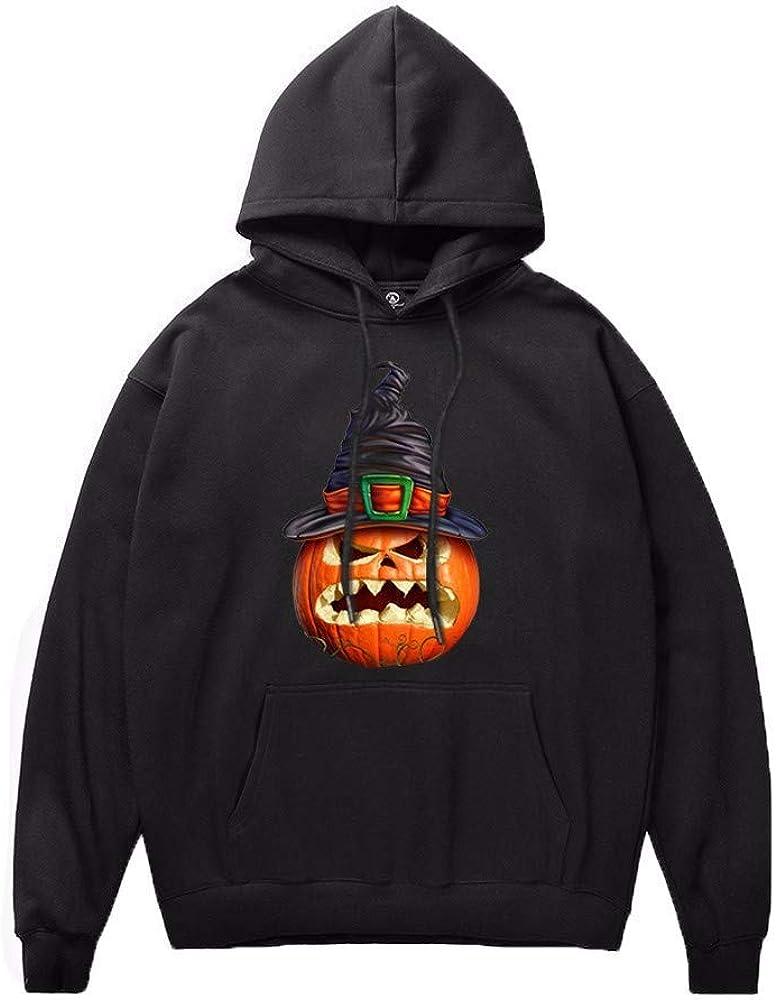 FORUU Halloween Printed Sweatshirt, Casual Comfy Couple's Scary Pullover Hoodies Long Sleeve Tops Party
