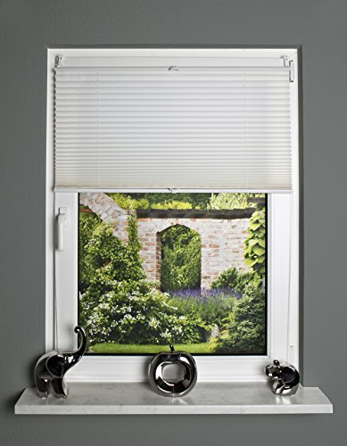 Home Fashion 094500–0201–Blanco 130cm x 40cm Estor Up & Down, plástico, Blanco, 130x 40cm