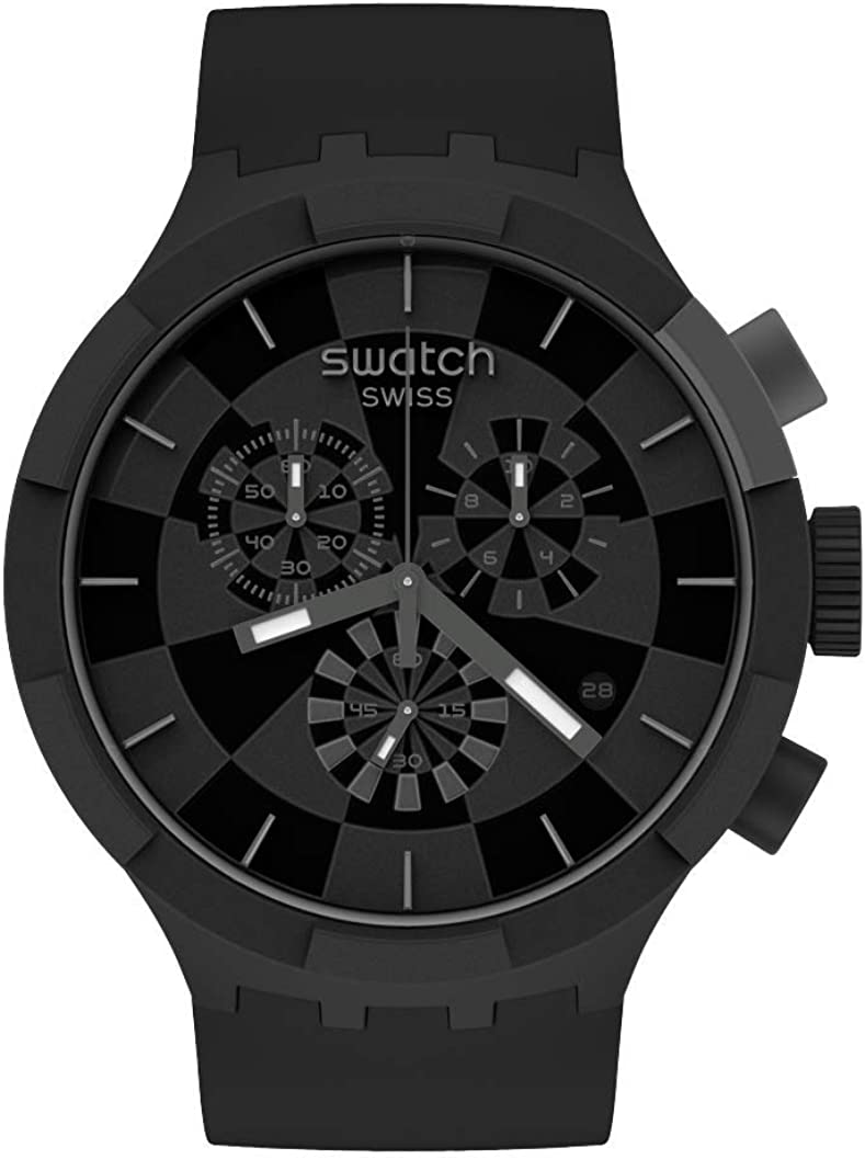 Swatch Quartz Silicone Strap Manufacturer OFFicial shop Black Watch Max 67% OFF Casual Model: 20 SB0