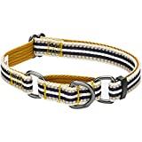 Petit Modèle S, Largeur 1,5cm, Tour de cou 30-40cm; Le collier n'est pas élastique, assurez-vous de ne laisser que 2 doigts entre les collier et le cou du chien. Ce collier n'est pas destiné à y accrocher une laisse. Les fils réfléchissants 3M sont u...