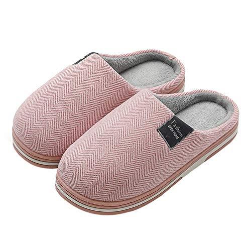N\C Zapatillas de invierno para mujer, antideslizantes, suaves, cálidas para interiores, dormitorios, amantes de las parejas, para el invierno