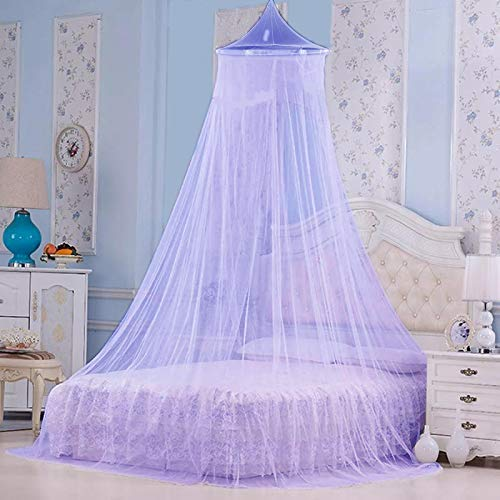 Styles Closet Polyster Round Ceiling Mosquito Net(Double Bed,6.5 * 6.5 ft) (Purple)