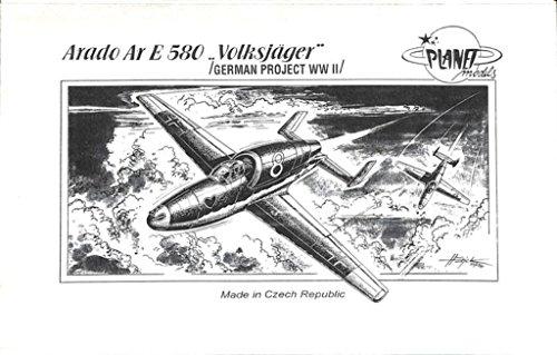 Planet Models CM-72 015 Modellbausatz Arado Ar.E-580 Volksjäger, WW II Projekt