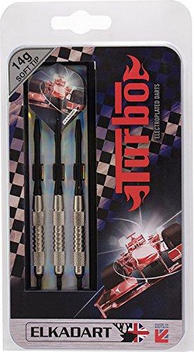 Best Sporting Elkadart Dartpfeile Turbo, 3 Soft-Tip-Pfeile mit Etui, Gewicht: 12 g