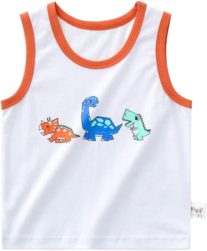 5 popular Minneapolis Mall AMMENGBEI Toddler Baby Boys Girls Pri Cotton Sleeveless Dinosaur