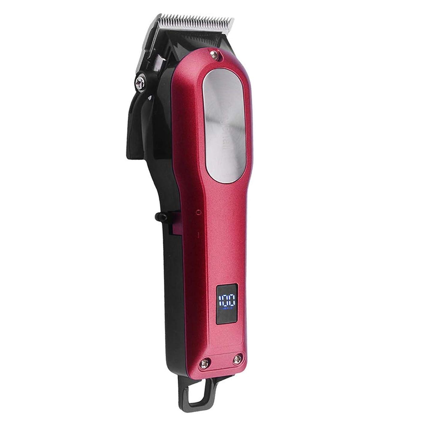 歯科医動員する隠されたCOSYONALL 電動バリカン 充電式ヘアカッター レバー式バリカン プロ 0.8-2mm刈り高さ調整可能 LEDディスプレイ 4時間連続使用 ヒゲトリマー ヘアクリッパー コードレス 低騒音 切れ味抜群 散髪 セット