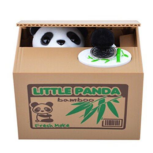 【UNTIL YOU】Süße Münzen-Klauende Katzen & Panda Spardose zum Geld Sparen. Das Perfekte Geschenk für Kinder und auch als Weihnachtsgeschenk(süßer Panda)