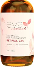 Natural Vitamin A Retinol Serum 2.5%, XL 2 oz. Bottle – Anti-Aging Serum + Vitamin E Oil, Jojoba Oil, Witch Hazel – Hyalur...