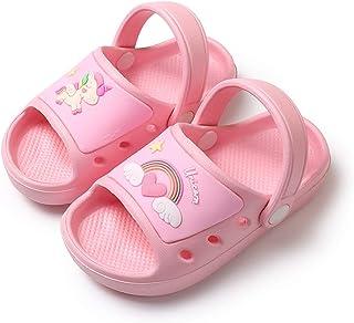 Sandalias Bebé Zapatillas Playa de Verano Niños Zapatos Unicornio Niñas Zapatos Dinosaurio Niño Pantuflas de Baño Antidesl...