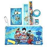 1 juego de estuche de lápices lindo material escolar para niños juego de papelería estuche de lápices de dibujos animados y bolsa para niños y niñas 17 * 10 CM