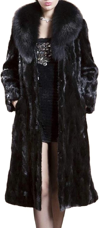 PujinggeCA Women Fluffy Warm Winter Thick Faux Fur Long Coat Jacket