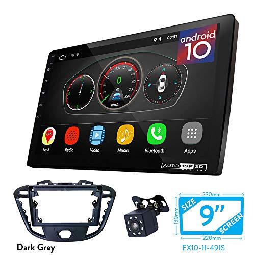 UGAR EX10 9 inch Android 10 DSP Autoradio GPS Navigation + 11-491S Radioblende Dash Installation Faszie Kit für Ford Transit Custom, Tourneo Custom 2012+