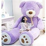NOVA ぬいぐるみ 特大 くま クマ 熊 テディベア 抱き枕 クッション かわいい だきまくら お祝い プレゼント (パープル, 160cm)