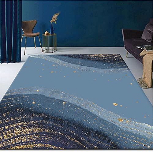 Alfombras alfombras recibidor Alfombra de decoración de Sala de Estar de diseño de Graffiti de Arte de Cielo Estrellado Azul Amarillo alfombras de pie de Cama Decoracion de Salones 180*250cm