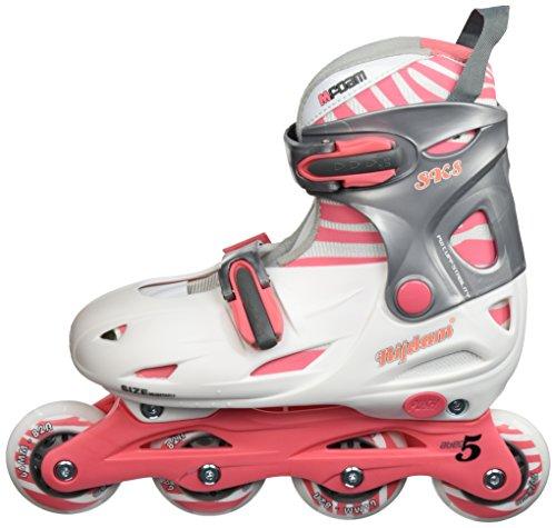 Nijdam Inlineskates Verstellbar Inline Skates Adjustable Hardboot, Pink/Anthracite, 30-33
