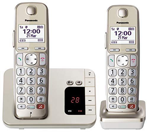Panasonic KX-TGE262GN champagner DECT-Telefon
