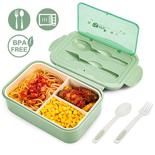 BIBURY Lunch Box, Leakproof Bento Box for Kids Adults, Food Container with 3...