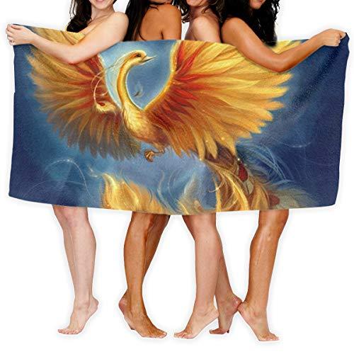 Yujing456 Flying Beautiful Phoenix Bath Towels,Home,Business,Shower,Tub,Gym,Pool - Machine Washable,Absorbent,Professional Grade,Hotel Quality