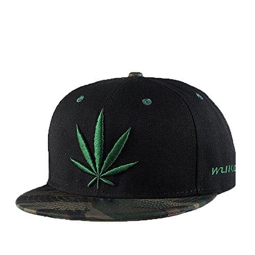 Unisex Moda Estate Esterno Reggae Sport Cappello Da Sole Decorazione Ricamo Cappellino Da Baseball Hip Hop Cappellino Con Visiera,Nero