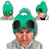 Rubber Johnnies SHADIES Chapeau de rugby Irlande avec lunettes de soleil intégrées Vert Taille unique