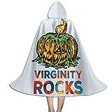 YRUI Virgi-Nity Rocks - Capa con capucha para niños, disfraz de Halloween, color negro