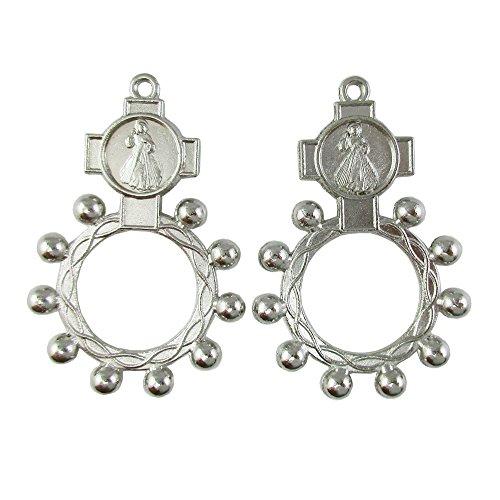 50 piezas de anillo de rosario para la década de la Divina Misericordia Anello Preghiera