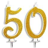 Velas Maxi de 50 años para tarta de fiesta de cumpleaños,