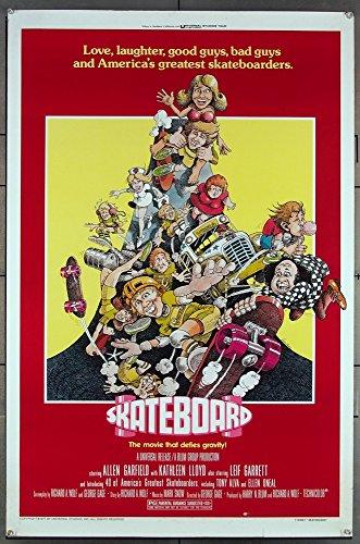 Skateboard (1978) Original One Sheet Poster (27x41) Folded Very Fine Film Directed by George Gage. ALLEN GARFIELD KATHLEEN LLOYD LEIF GARRETT GORDON JUMP ORSON BEAN PATRICIA HITCHCOCK