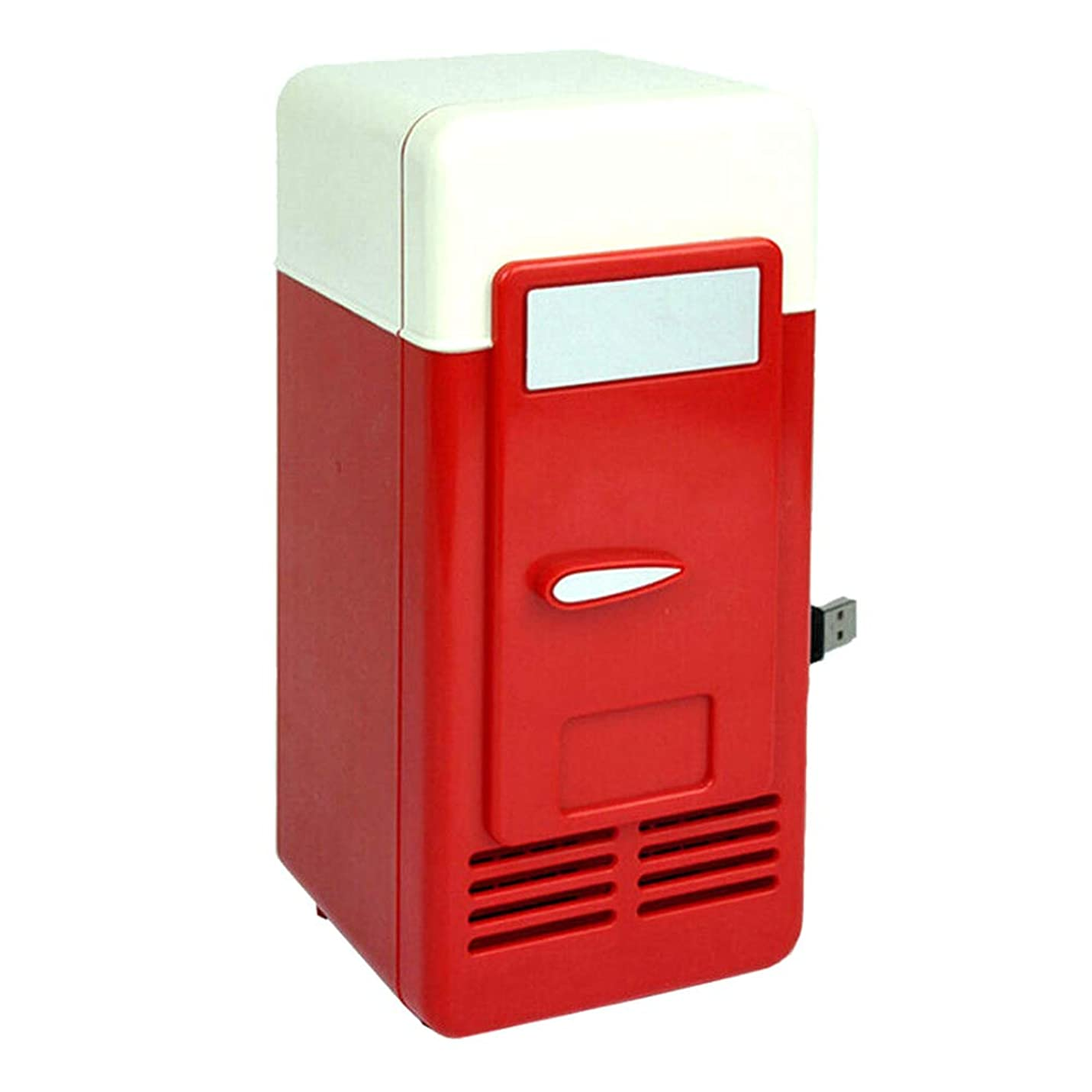 災難ボックスエイリアンRETYLY USBミニ冷蔵庫コールドドロップドッピング冷凍庫USBミニ冷蔵庫小型ポータブルソーダミニ冷蔵庫 カー用レッド
