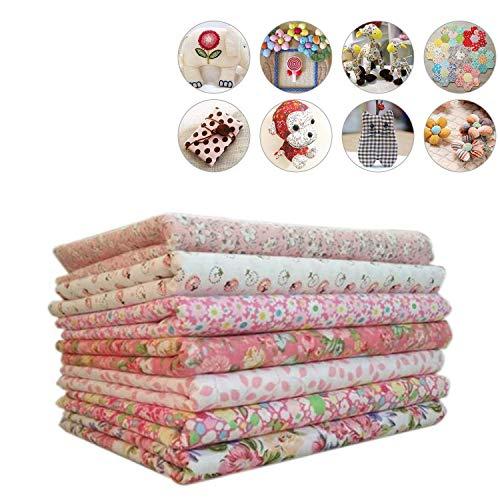 Wohlstand Tela de algodón 7pcs / set,impresa llana de floral pequena Tela del algodon para el tejido de costura de costura de tejido de remiendos de casa Tela de algodón Tela de cuerpo de muñeca