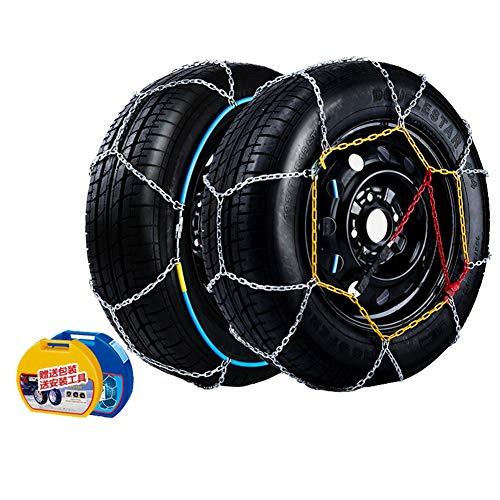 Cadenas Antideslizantes de neumáticos de Nieve de Portátil Cadenas de neumáticos Antideslizante Cadena de Nieve Precio por par para Furgonetas TPU y Camiones Ligeros Universal F (Size : 245/45-17)