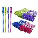 Shintop Disposable Eyelash Brushes, 200 Pack Eyelash Mascara Wands Applicator Makeup Kits (Multicolor)