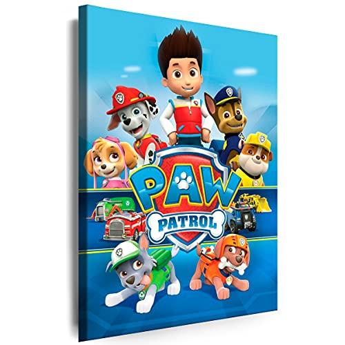 Julia-Art - Bilder Film Cartoons Tiere Kinder Paw Patrol 11 60 x 40 cm LeinWandBilder XXL - 1 Teilige WandBilder Art 3D Modern Kunstdrucke w-a-2063-73