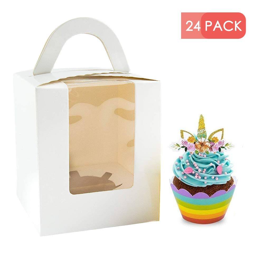 Choice Series Yotruth Roses Single Boxes for Cupcakes 25 Sets Pop-up Easy Assembly