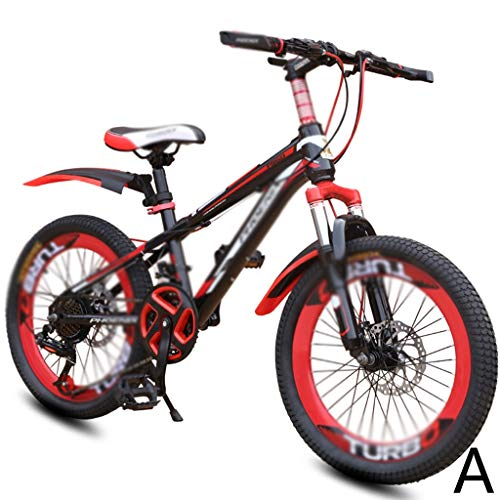 Bicycle Speed Student Bicycle 21 Speed Mountain Bike Boy Bicycle Girl Bicycle 20 Inch, High Carbon Steel Frame, Mechanical Double Disc Brake (Color : F, Size : 20INCHES)