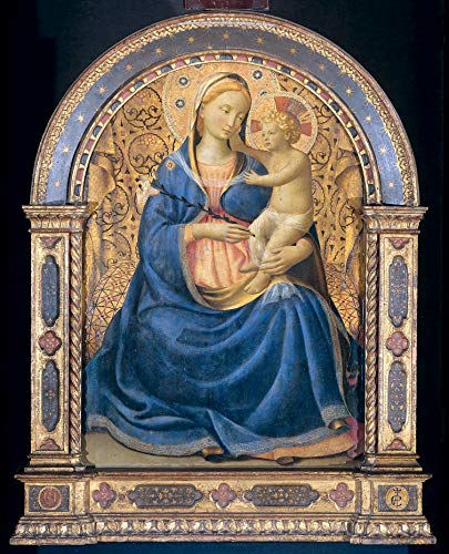 """Fra Angelico Madonna and Child 1445 Rijksmuseum Amsterdam 24"""" x 19"""" Fine Art Giclee Canvas Print (Unframed) Reproduction"""