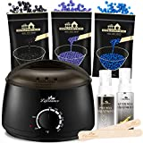 Lifestance Waxing Kit, Design for Sensitive Skin, Wax Warmer Hair Removal for Bikini, Brazilian, Face, Legs, At Home...