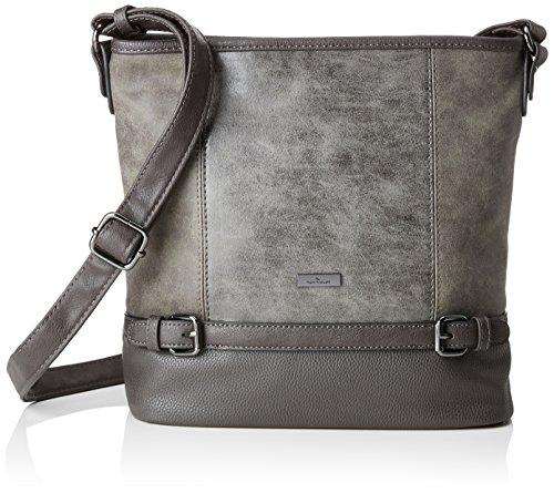 TOM TAILOR Shopper Damen, Juna, , Grau (Grau), 10x28x30 cm, TOM TAILOR Taschen für Damen, Handtasche, Schultertasche, Hobo
