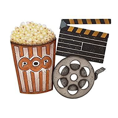 Deco 79 53270 Metal Movie Wall Decor, 28  W x 22  H