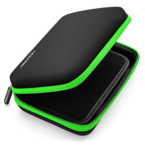 deleyCON Navi Tasche Navi Hülle Tasche für Navigationsgeräte - 6 Zoll und 6,2 Zoll (17x12x4,5cm) - Robust und Stoßsicher - 1 Innenfach - Grün