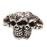 [ジェンマ] Gemma ジュエリー シルバ- アクセサリー メンズ リング 指輪 髑髏 頭蓋骨 ドクロ スカル シルバー S925 Skull-Rings-GS-R1601 [ギフトラッピング付!] (シルバー, 21)