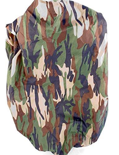 Outdoor Saxx® - Housse de sac à dos, protection contre la pluie, avec cordon en caoutchouc, universelle, compatible avec les sacs à dos jusqu'à 60 cm de longueur, camouflage jungle.