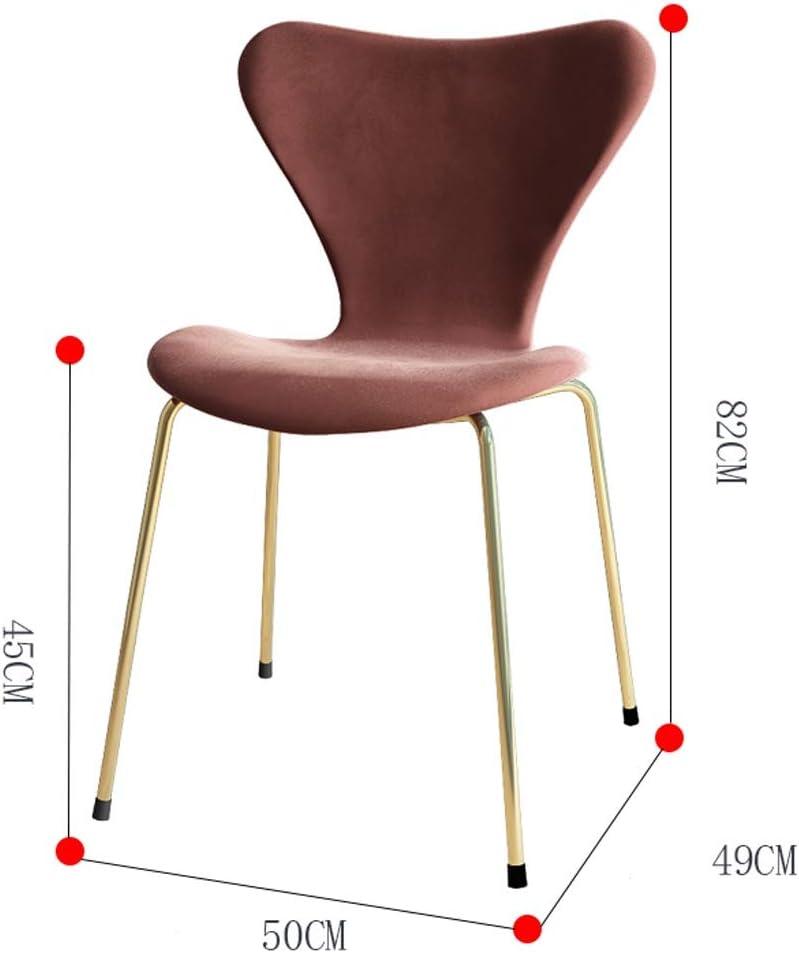 WDX- Chaise de salle, Chaise de bureau simple, créative Dossier, Chaise Loisirs, Maison adulte Chaise de salle mode (Color : Navy blue) Green